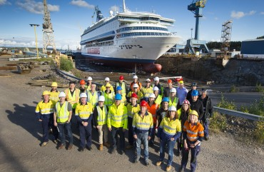The Bridgemans Services refitting of the Silja Europa